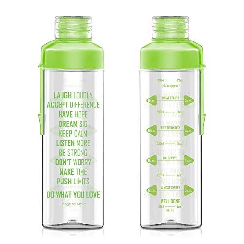Artoid Mode 750ml Bere Bottiglia con Memoria bevente | Tritan, Senza BPA, a Tenuta stagna | Ideale per Sport, Fitness, Yoga, Viaggi e Scuola