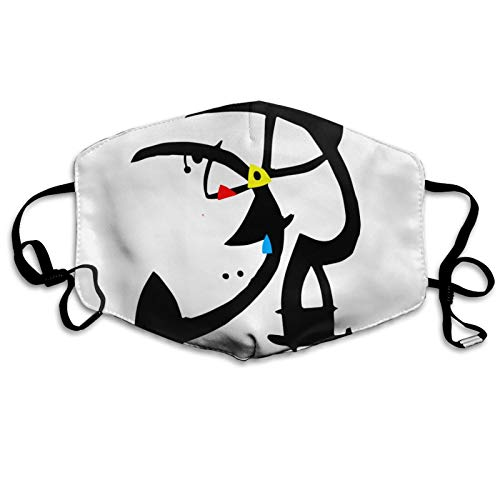 ghjkuyt412 Mouth Cover Face Cover Joan Miro Two Characters Washable Mouth Cover Reusable Mouth Scarf Face Scarf for Kids Adults