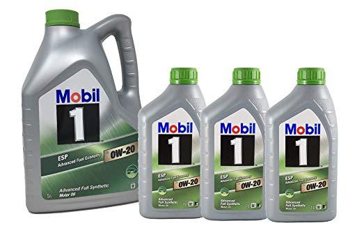 Mobil 1 Öl für Motor ESP x2 0W-20 Advanced Kraftstoffverbrauch, Pack 8 LTS