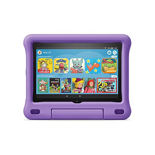 Fire HD 8 Kids Edition-Tablet, 8-Zoll-HD-Display, 32 GB, violette kindgerechte Hülle