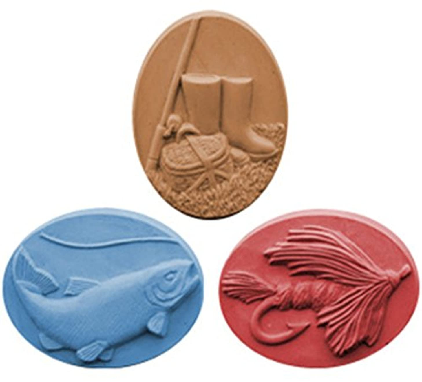 Gone Fishing Soap Mold (MW 80) -  Milky Way. Melt & Pour, Cold Process w/ Exclusive Copyrighted Full Color Cybrtrayd Soap Molding Instructions in a Sealed Poly Bag