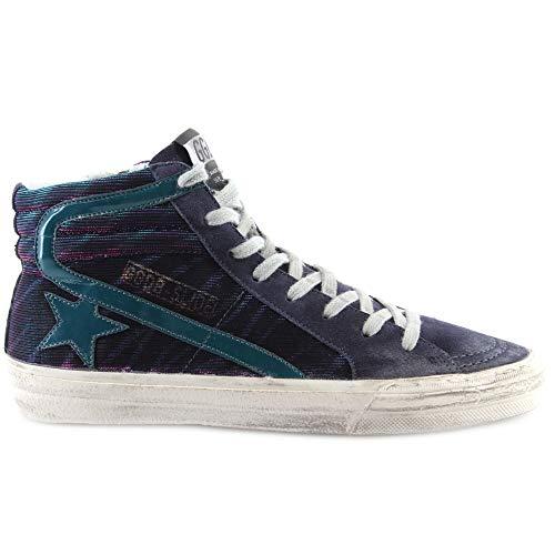 Gouden Gans Dames Schoenen Sneakers Slide Paars Zebra Benzine Patent Ster Italië