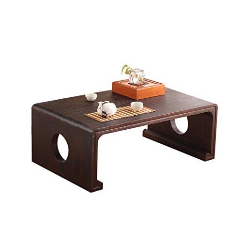 Jiax Klaptafel draagbaar van hout, salontafel in Japanse stijl, kleine tafel van massief hout, kleine tafel van massief hout, creatieve decoratie, salontafel