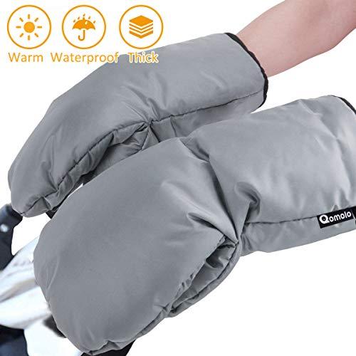 Handwärmer, Qomolo Wasserdicht Handschuhe mit warme Fleece und Baumwolle, Wasser- und Windabweisend Handmuff für Kinderwagen Buggy