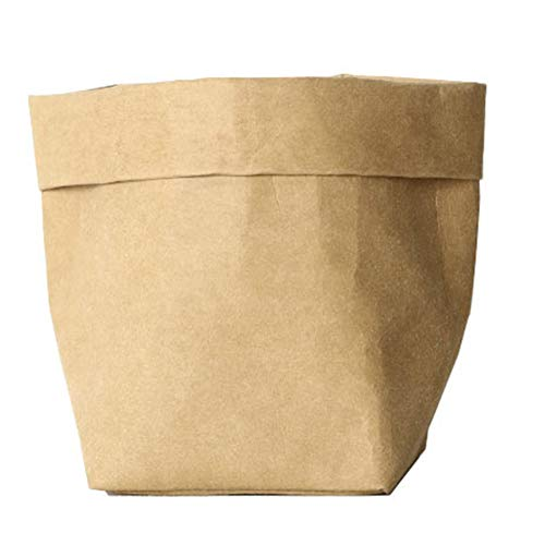 Bolsa de papel kraft lavable creativa para macetas de papel