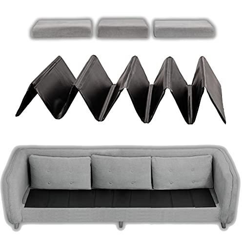 Noble Realm Couch Cushion Replacement for Sagging Sofa && Sofa Cushion Support Board && Adjustable/Foldable Sofa Cushion Seat Saver(Three Seaters/168cm/66)