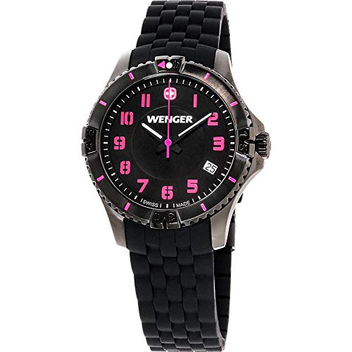 Wenger Squadron Quartz Movement Black Dial Ladies Watch 01.0121.112