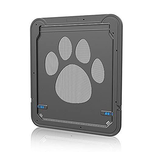 ConBlom Porta Zanzariera per Animali Domestici per Cane, Facile da Installare Porta per Animali Domestici Resistente in ABS Nero 24 * 29
