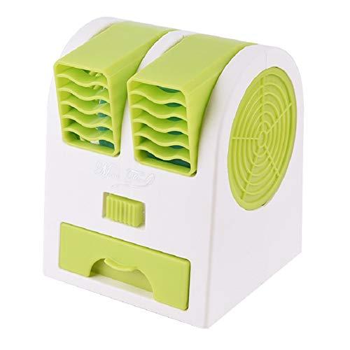 HAODEE Wentylatory bez ostrzy przenośny klimatyzator z podwójnymi ustami bezostrzowy wentylator zapobiegający przytrzaśnięciu mini wentylator wieżowy do domu biura na zewnątrz podróż zielony