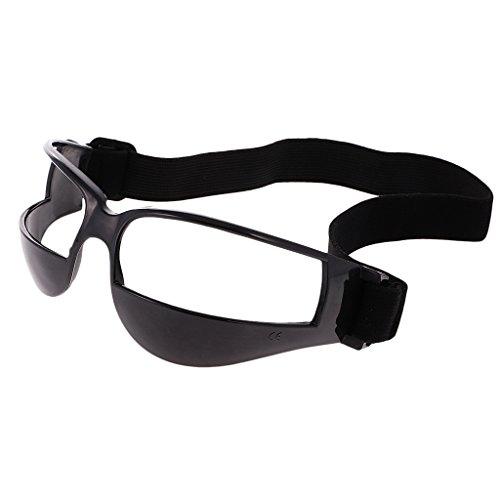 MagiDeal Tipo de Baloncesto regate especificaciones Gafas Gafas formación Ayuda, Black (1 Pack)