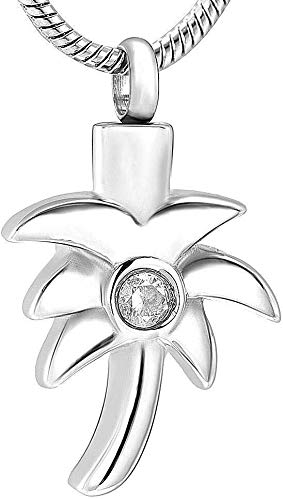 necklace Collar de Moda para Mujer Collar de Recuerdo conmemorativo de Acero Inoxidable Hembra Hombre Cristal Coco Coco Joyería Izar