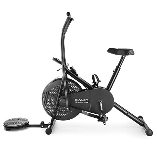 BIONFIT ON03M Indoor Air Bike Exercise Cycle with Dual Moving Arms for Home Gym Cardio Full Body...