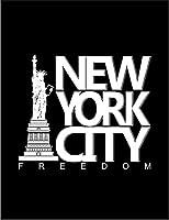 【FOX REPUBLIC】【ニューヨーク 自由の女神】 黒マット紙(フレーム無し)A2サイズ