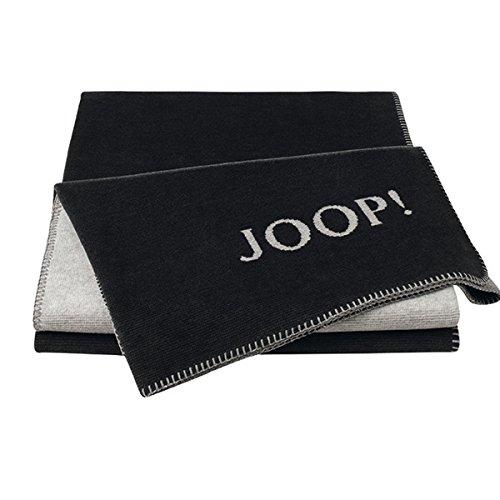 Joop! Plaid Melange Doubleface | Anthrazit-Silber - 150 x 200 cm