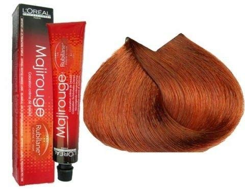 L'Oréal Majirouge 7,45 Mittelblond Intensives Kupfer Mahagoni Rubilane, 1er Pack (1 x 50 ml)