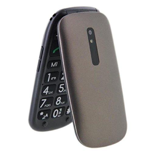 """Telefunken TM220 - Móvil de Teclas Grandes (2.4"""") Color arábica"""