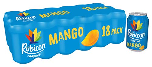 Rubicon Sparkling Mango Fizzy Drink Cans, 330ml, (Set of 18), 1404100