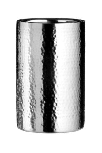 Premier Housewares Refrigeratore per vino in acciaio INOX con effetto battuto