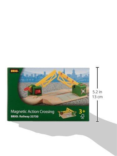 Brio World - 33750 - Passage à niveau magnétique - Accessoire pour circuit de train en bois - Action de jeu sans pile - Jouet mixte - A partir de 3 ans