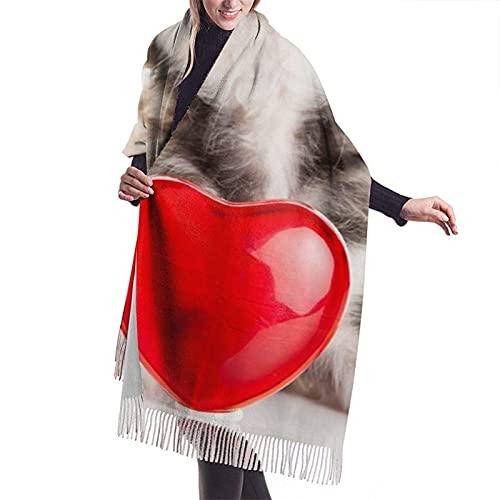 LEEKOTECH Pashmina Schal Schals Wickelschal Quilling Cushion Scarf Women Cashmere Scarves Shawl Wrap Stylish Oversize Cozy Warm Soft Wickelt Schal(77x27Inch/196x68CM)