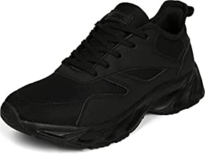 BRONAX Men's Casual Tennis Running Sneakers, Size 12 Walking Shoes for Gym Sport Fitness Workout Athletic Lightweight Zapatillas de Tenis para Hombre for Male Negro All Black 47