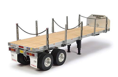TAMIYA 56306 1:14 Flachbett-Auflieger, Bausatz zum Zusammenbauen, RC Truck, fernsteuerbarer, Lastwagen, LKW,...