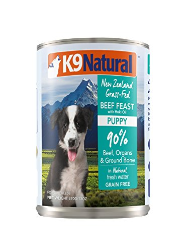 K9 Natural Canned Puppy Food Perfect Grain Free, Healthy, Hypoallergenic Limited Ingredients All Puppy Types - BPA-Free Wet Puppy Food - Beef & Hoki Oil Flavour - 13oz (12 Pack)