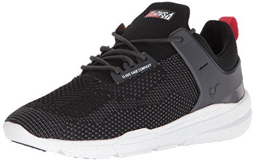 DVS Cinch LT+, Chaussures de Skateboard Hommes, Noir (Black Charcoal Knit 007), 47 EU