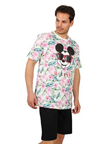 Disney Kurzarm-Pyjama, Mickey Jungle, für Herren, 54222-0, Mehrfarbig, 54222-0 XL