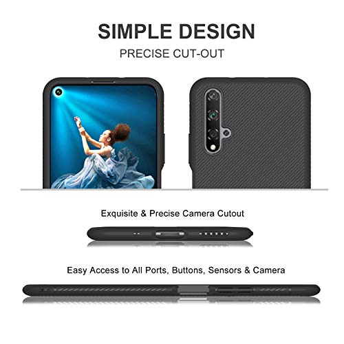 iBetter für Honor 20 Hülle, für Huawei Nova 5T Hülle, Ultra Thin Tasche Cover Silikon Handyhülle Stoßfest Case Schutzhülle Shock Absorption Backcover Hüllen passt für Honor 20 Smartphone (Schwarz) - 4