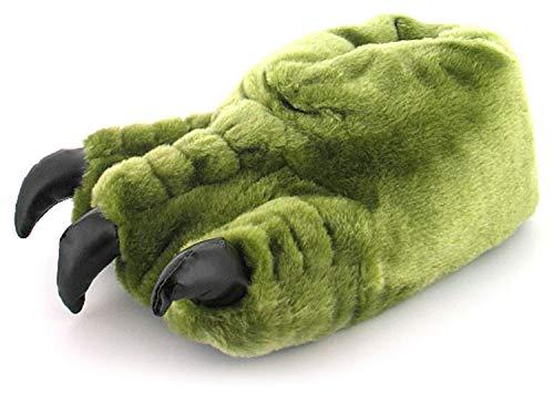 Zapatillas de Navidad para hombre con forma de garra de monstruo, color verde, ideal como regalo de Navidad, color Verde, talla 41.5