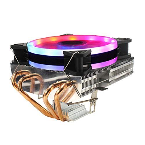 Range Tranquilo El fanático de la CPU de la CPU de Las Aguas residuales de la tubería de Cobre es Adecuada para 1366/2011/1155, etc. (Multi-Light de Tres Cables Fácil de Transportar e Instalar