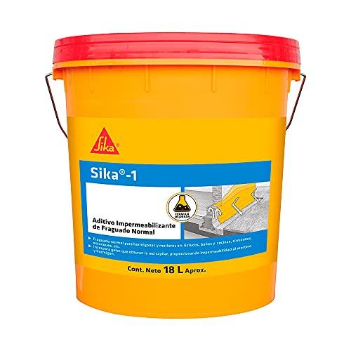 Sika-1, Additivo impermeabilizzante per malte, riduce le porosità, permette di ottenere malte cementizie compatte ed altamente impermeabili all'acqua, anche di controspinta, 5kg