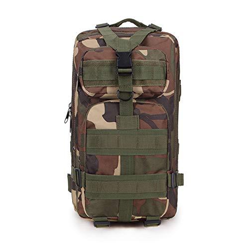 SXGX Mochila táctica de 30 l, senderismo, camping, senderismo, senderismo, senderismo, deportes, viajes, exteriores, bolsa de camuflaje multifuncional [45 x 23 x 25 cm] D