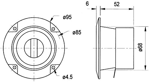 Visaton Einbaulautsprecher, Lautsprecher-Pegelregler (L-Regler/L-Pad) (973977000071)
