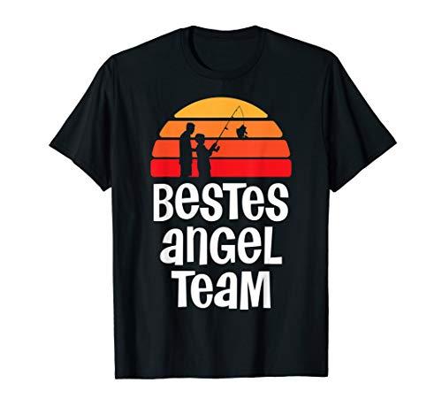 Bestes Angel Team für Angler Papa und Sohn Partnerlook T-Shirt
