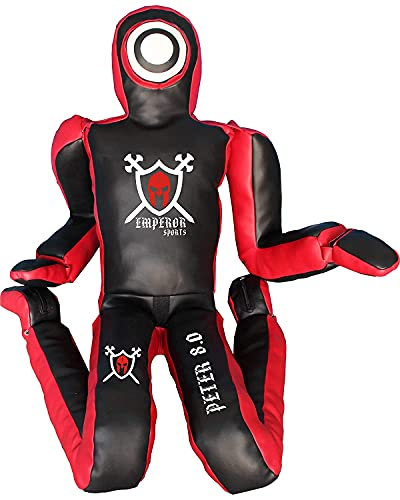 Emperor PETER 8.0 MMA BJJ Training Dummy Veg Leather Grappling Submission...