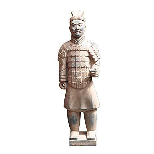 SDBRKYH Terrakotta-Krieger-Statue, Garten Ornament Terrakotta-Armee Statue chinesische Terrakotta-Krieger Die Große Stehen Terrakotta-Armee