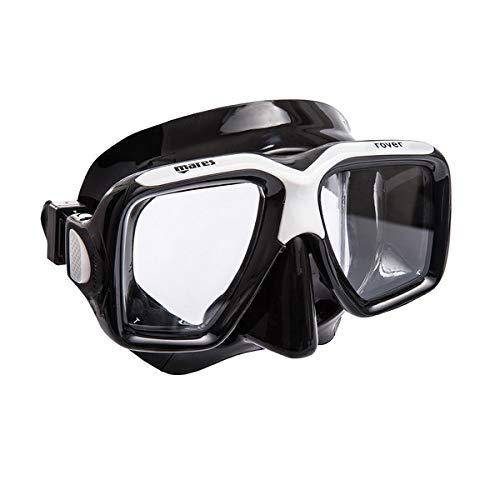 Mares Erwachsene Mask Rover Taucherbrille, Schwarz, BX