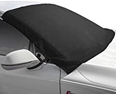 """DIMENSIONS: 75""""L x 0.1""""W x 42.25""""H inches - All-weather winter windshield guard provides full coverage – Windshield cover canvases the entirety of your windshield and fits most cars, trucks, vans, and SUV's - To ensure proper fitment, please take an ..."""
