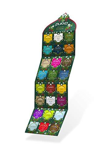 Pukka Calendrier de l'Avent, Idée cadeau, Sélection de 24 thé noir, thé vert et infusions biologiques, 100% d'ingrédients issus de l'agriculture biologique, idéal à offrir, 24 sachets