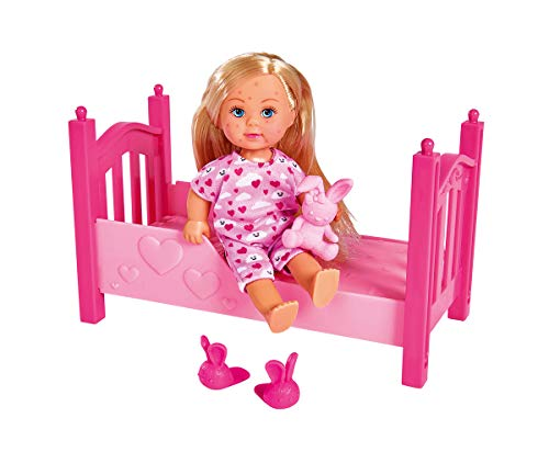 Simba Toys 105733407 - Evi Love Vattkoppor - Modedockan Evi Inklusive säng och andra Tillbehör, 12 cm, Från 3 år