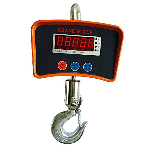 Hanging Crane Scale 1100Lb/500KG LCD Digital Electronic Crane Scales with Adapter for Hunting, Home,Farm or Construction
