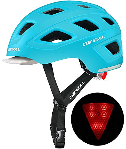 Jourlove Bike Helmet Lightweight Bicycle Helmets Adult Adjustable Cycle Helmet with LED Light Detachable Sun Visor for Road Bike Riding Safety Mountain Bicycle Mens Women 21-22 Inch,Green