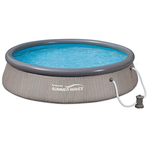 Summer Waves 12ft x 36in Quick Set Above Ground Inflatable Round Swimming Pool with Filter Pump