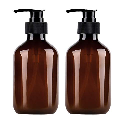 Calayu 2 Stück Seifenspender 500ml Lotionen Spenderflaschen Nachfüllbare Leere Flaschen Pumpflaschen für Lotionen Shampoos, für Küche Badezimmer