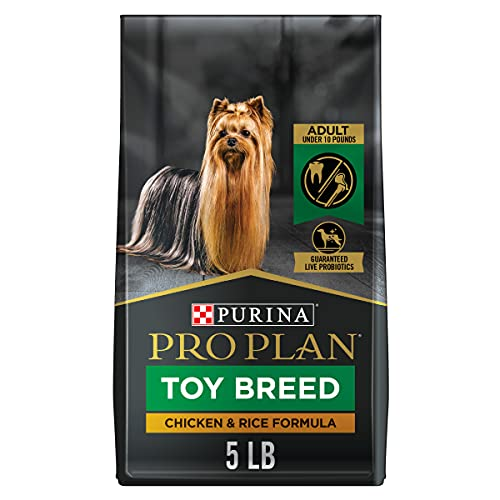 Purina Pro Plan Toy Breed Dog Food With Probiotics for Dogs, Chicken & Rice Formula - 5 Pound (Pack of 1), 80 ounce