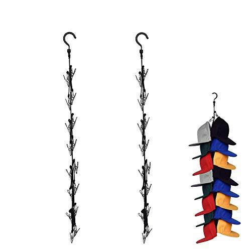 YYST Closet Hanging Cap Keeper Closet Cap Racks Hats Holders Closet Hook Storage Organizer - Fit Most Hats - No Hats Included (2)