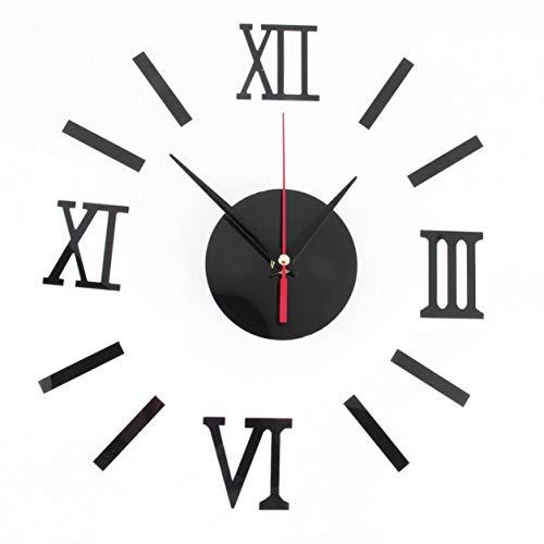 YXDS Uhr 1set Modern DIY Interior Roman Wandtattoos Uhr 3D Wandaufkleber Aufkleber Wohnkultur Wohnspiegel adesivo de Parede Effectest