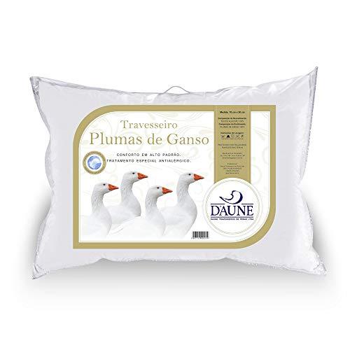 Travesseiro Daune 100% Plumas de Ganso 0.50x0.70m Branco